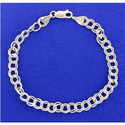 Itlalian Made White Gold 14K Charm Bracelet