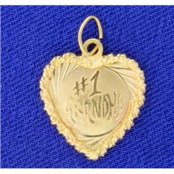 I Love Grandma Heart Pendant or Charm