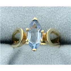2 ct Blue Topaz Ring