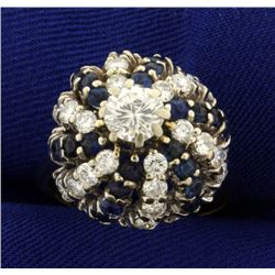 2 1/2ct TW Diamond and Sapphire Ring