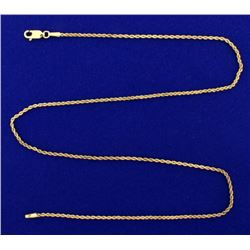 18 Inch Rope Style Neck Chain in 14k Gold