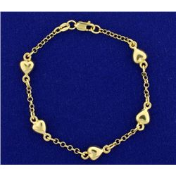 Child's Cable Link Heart Bracelet