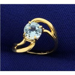 Child's Sky Blue Topaz Ring in 14k Gold