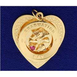 Graduation Day Heart Pendant