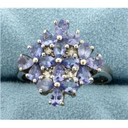 Tanzanite Ring in Flower Design