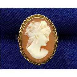 Cameo Ring in 14k Gold