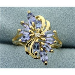 Tanzanite and Diamond Ring