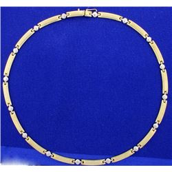 Yellow and White Gold Designer Necklace