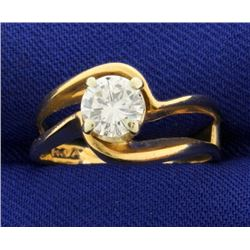 Diamond Solitaire .80 Ct Engagement Ring