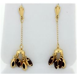 Dangle Style Garnet Earrings