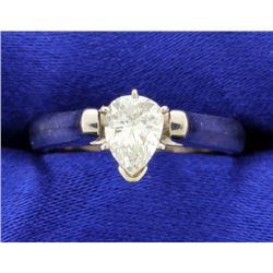 0.70 Ct Pear Diamond Solitaire ring