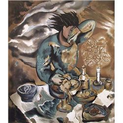Sandro Chia, Dinner Table, Lithograph