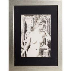 Paul Delvaux, Two Nudes, Lithograph