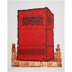 Moshe Elazar Castel, Stone of the Temple, Lithograph
