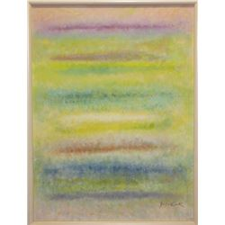 Michael Schreck, Pastel Rainbow Abstract, Acrylic Painting