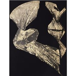 Lynda Benglis, Dual Nature (Black), Lithograph with Gold Leaf