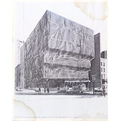 Christo, Whitney Museum Wrapped, Offset Lithograph Poster