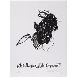 Malcolm Morley, Melba with Carrot, Etching