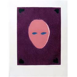 Fritz Scholder, Mask of a Mystery Woman, Aquatint Etching
