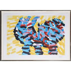 Karel Appel, Puppy from Ten from Appel Series, Lithograph