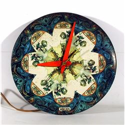 Peter Max, Clock (Pattern of Young Girl with Flowers), General Electric Clock