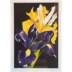 Lowell Blair Nesbitt, Yellow and Purple Irises, Serigraph