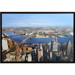 Rothschild, Aerial View of New York City, Oil Painting