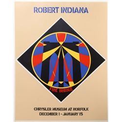 Robert Indiana, Fire Bridge - Chrysler Museum at Norfolk, December 1 - January 15, Screenprint Poste