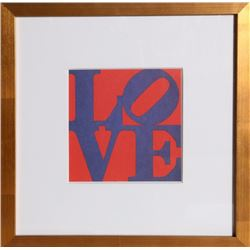 Robert Indiana, Love, Offset Lithograph