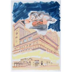 Larry Rivers, Carnegie Hall, 100th Anniversary Portfolio, Lithograph