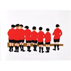 Patricia Sussman, Waiting for the Eton Bus, Serigraph