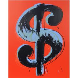 Andy Warhol, Dollar Sign (Red), Sunday B Morning Serigraph