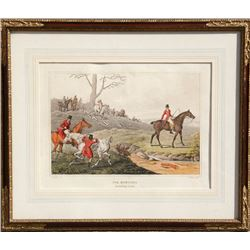 Henry Thomas Alken, Fox Hunting, Breaking Cover, Hand Colored Etching