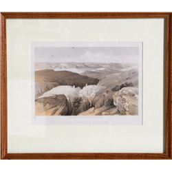 David Roberts, Wilderness of Engedi Near the Convent of St. Saba, Lithograph