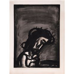 Georges Rouault, Jesus Reviled from Miserere, Aquatint