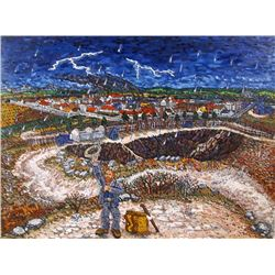 Jon Digmann, Vincent Dancing, Rain by Quarry on Montmarte, Oil and Gesso Painting