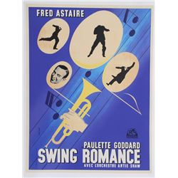 Jean Colin, Fred Astaire Swing Romance, Poster (Modern Printing)