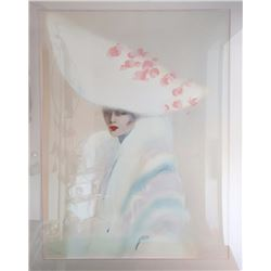 Victoria Montesinos, Elegance in White, Lithograph