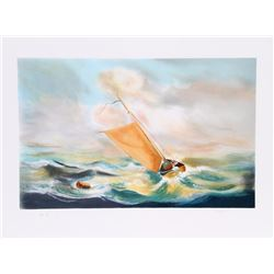 Fioravanti, Sail in the Storm, Lithograph