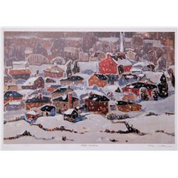 Tom Mathews, White Christmas, Lithograph