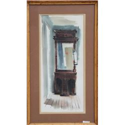 Eve Nethercott, Mirror, Mirror in the Hall, Watercolor Painting