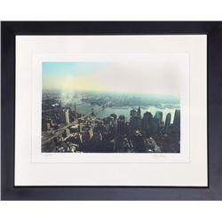 Ron Glazer, View Above Manhattan, Digital Print