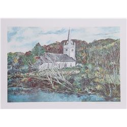 William Collier, Wildwood Church, Lithograph