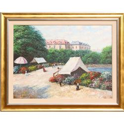 Raucher, Garden Promenade, Oil Painting