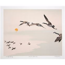 Mel Hunter, North Over Hudson Bay, Lithograph