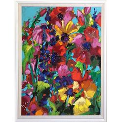 Bonnie Siebert, Summer Flowers, Oil Painting