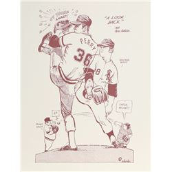 Bill Gallo, Mickey Mantle from A Look Back portfolio, Lithograph