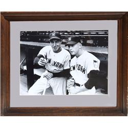 Joe DiMaggio and Mickey Mantle, Photograph