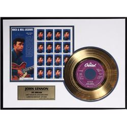 John Lennon No. 9 Dream, Gold-plated Record and Stamp Set