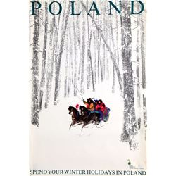 Janusz Grabianski, Spend Your Winter Holidays In Poland, Poster